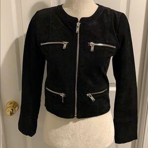 NWOT Suede/Zipper Jacket